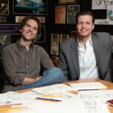 Nathan Greno e Byron Howard al lavoro sul film Disney Rapunzel