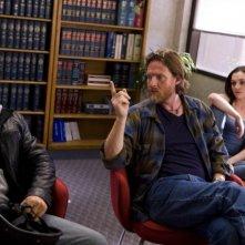 Donal Logue, Michael Raymond-James e Rachel Miner nella serie Terriers