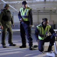 Zachary Levi, Adam Baldwin e Isaiah Mustafa nell'episodio Chuck Versus The A-Team