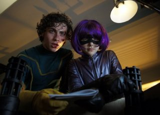 Aaron Johnson e Chloe Moretz in azione nel film Kick-Ass