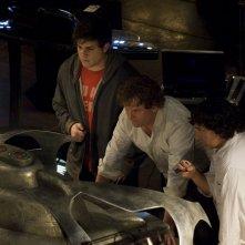 David Blue, Peter Kelamis e Patrick Gilmore nell'episodio Deliverance di Stargate Universe