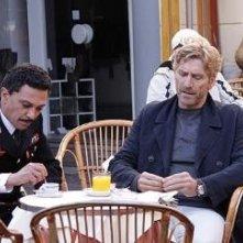 Raffaele Gangale ed Emanuele Vezzoli in una scena del giallo L'affare Bonnard