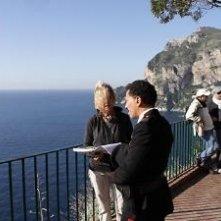 Raffaele Gangale sul set del giallo L'affare Bonnard con la regista Annamaria Panzera
