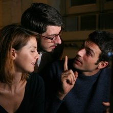 Paola Cortellesi, Paolo Ruffini e Luca Argentero, protagonisti di C'è chi dice no
