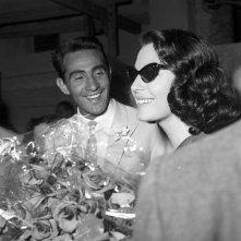 Walter Chiari con Ava Gardner nel 1956 - tratta dal libro Walter Chiari, un animale da palcoscenico di Michele Sancisi, Mediane editore