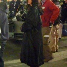 Adrianne Palicki durante le riprese della nuova serie Wonder Woman