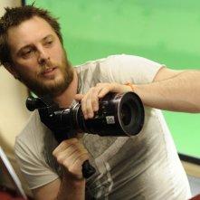 Duncan Jones sul set del film The Source Code