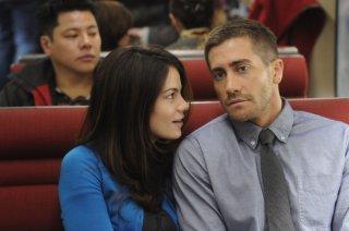 Michelle Monaghan e Jake Gyllenhaal in una scena del film The Source Code