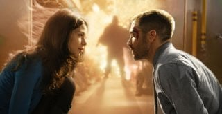 Michelle Monaghan e Jake Gyllenhaal nel film The Source Code