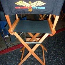 Un'immagine dal set della nuova serie Wonder Woman