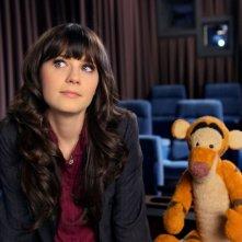 Un'immagine di Zooey Deschanel, cantante e compositrice di parte della colonna sonora di Winnie the Pooh