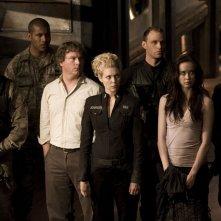 Jamil Walker Smith, Patrick Gilmore, Alaina Kalanj, Elyse Levesque e Brian J. Smith in Twin Destinies di Stargate Universe