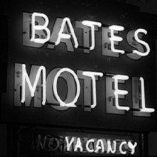 L'insegna del famigerato Bates Motel dove è ambientata la storia di Psycho