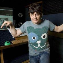 Fabio De Luigi in sala doppiaggio per la versione italiana di Rio in 3D