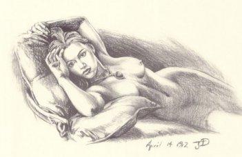Il ritratto di Kate Winslet nuda utilizzato in Titanic
