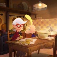 Titeuf, il film: Titeuf in cucina con la nonna in una scena del film