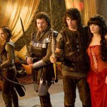 Natalie Portman, Danny McBride, James Franco e Zooey Deschanel nel film Your Highness