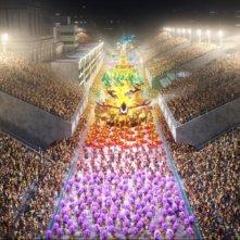 Una colorata sequenza del film Rio in 3D