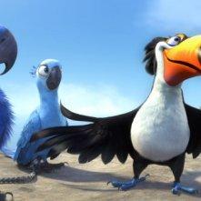 Una scena del film d'animazione Rio in 3D