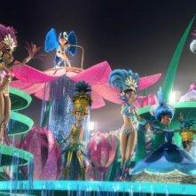 Una scintillante sequenza del film Rio in 3D