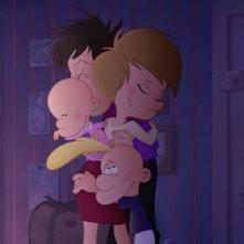 Titeuf, il film: Titeuf abbraccia la sua famiglia in una scena