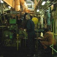 Un'immagine della sala macchine a bordo del cargo del film Il colore del vento