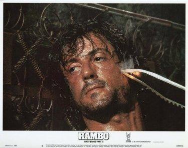 Sylvester Stallone è John Rambo nel film del 1982