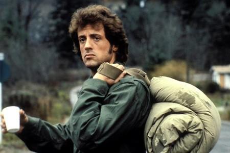 Sylvester Stallone in una sequenza di Rambo