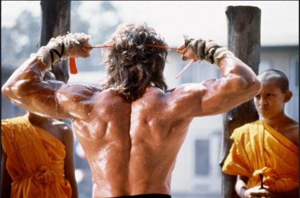 Sylvester Stallone, una montagna di muscoli per il terzo capitolo di Rambo