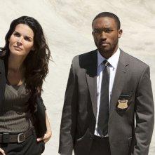 Lee Thompson Young e Angie Harmon nell'episodio Boston Strangler Redux di Rizzoli & Isles