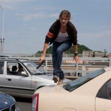 Alice Taglioni in una sequenza del film La proie