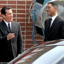 Josh Brolin e Will Smith sul set di Men in Black 3