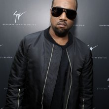 Kanye West ad un evento fashion di Giuseppe Zanotti