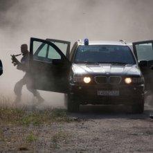 Una sequenza d'azione del poliziesco francese La proie, del 2011