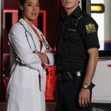 Craig Olejnik e Mylene Robic in una foto promozionale della serie The Listener