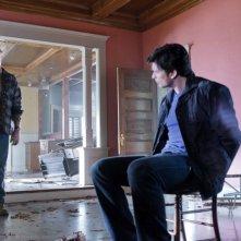 John Schneider e Tom Welling nell'episodio Kent di Smallville