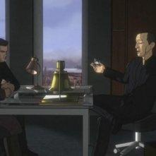 John Noble, Joshua Jackson e Leonard Nimoy in versione animata nell'episodio Lysergic Acid Diethylamide di Fringe