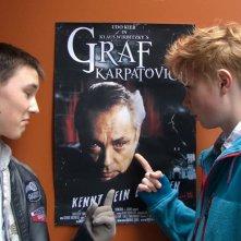 Moritz Glaser, Lukas Mrowietz e (nel poster) Udo Kier nel film Der Himmel hat vier Ecken