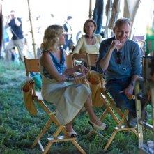 Francis Lawrence con Reese Witherspoon sul set del film Come l'acqua per gli elefanti
