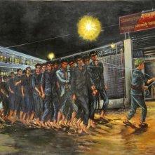 I prigionieri S21 in un\'immagine del documentario Le Maitre des Forges de l\'Enfer