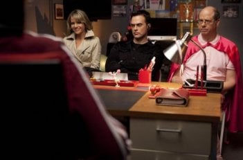Jessalyn Gilsig, Stephen Tobolowsky e Cheyenne Jackson nell'episodio A Night of Neglect di Glee