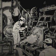 Una sequenza del film d'animazione Tatsumi