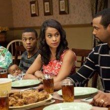 Zia Bam (Cassi Davis), Byron (Bow Wow), Kimberly (Shannon Kane) and Calvin (Isaiah Mustafa) nel film Madea's Big Happy Family