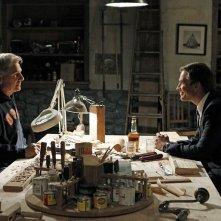 Mark Harmon di fronte a Michael Weatherly nell'episodio Dead Reflection di NCIS