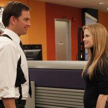 Michael Weatherly e Sarah Jane Morris nell'episodio Dead Reflection di NCIS