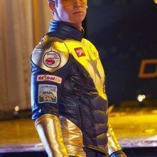 Booster Gold (Eric Martsolf) in una scena dell'episodio Booster di Smallville