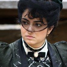 Alessandra Mortelliti è la signora Patò nel film di Rocco Mortelliti (foto di Giacomo Cannata)
