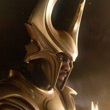 Idris Elba in una sequenza di Thor
