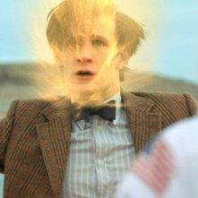 Matt Smith in un momento dell'episodio The Impossible Astronaut di Doctor Who