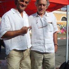 Robert De Niro con la sua controfigura, lo stuntman Mauro Aversano sul set di Manuale d\'Amore 3